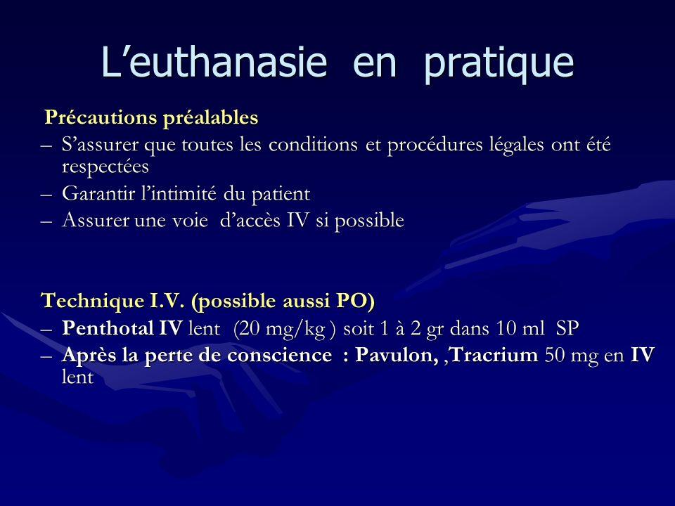 L'euthanasie en pratique