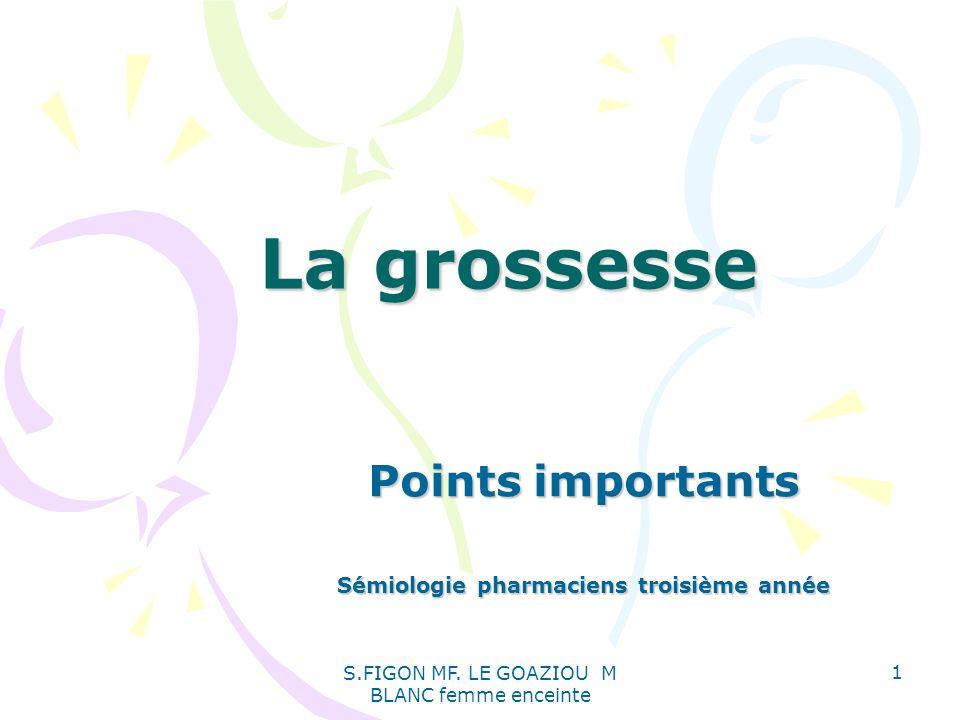 Points importants Sémiologie pharmaciens troisième année