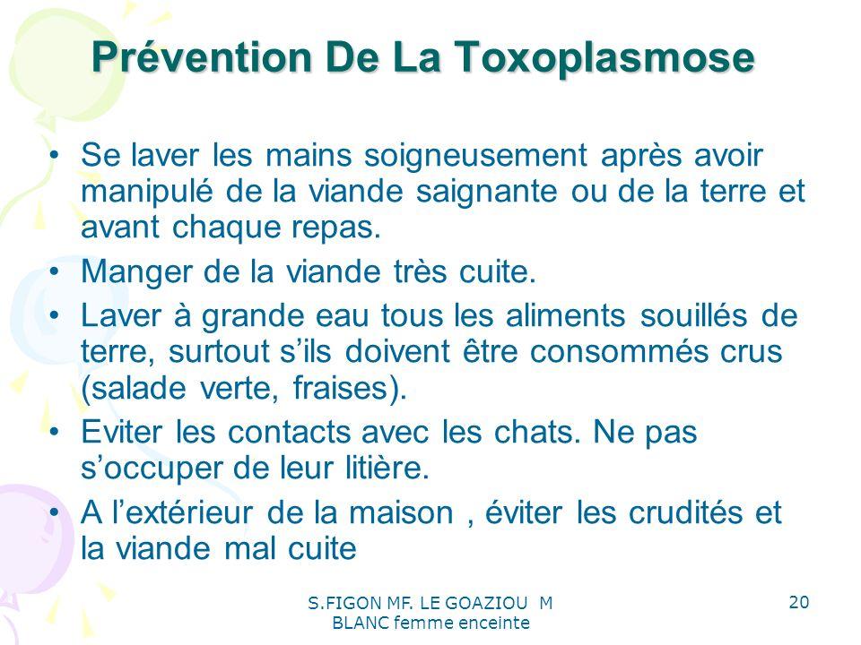 Prévention De La Toxoplasmose