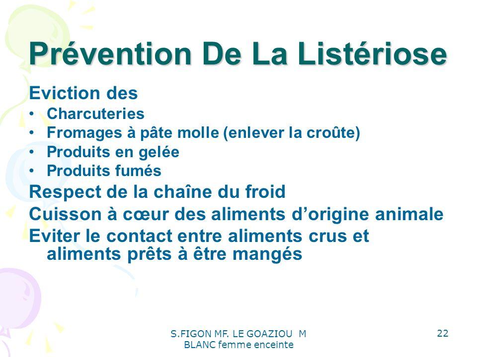 Prévention De La Listériose