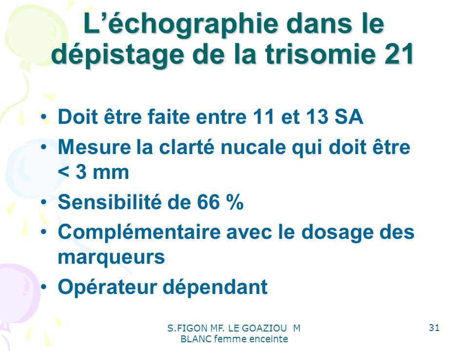 L'échographie dans le dépistage de la trisomie 21