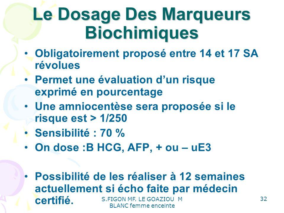 Le Dosage Des Marqueurs Biochimiques