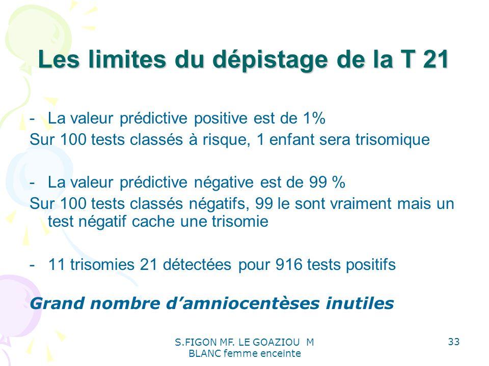 Les limites du dépistage de la T 21