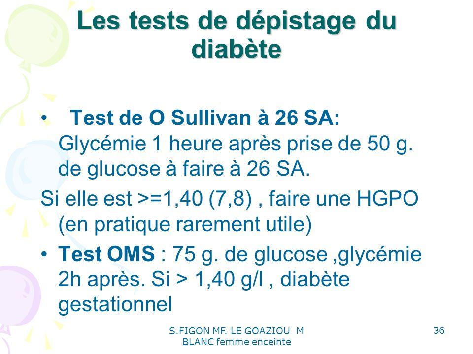 Les tests de dépistage du diabète