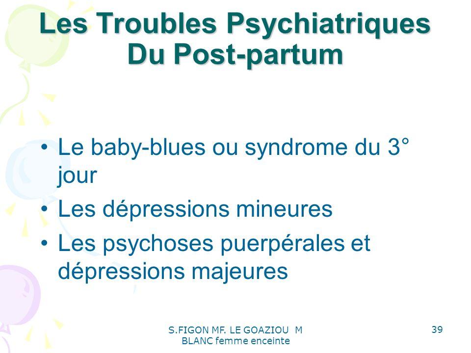 Les Troubles Psychiatriques Du Post-partum