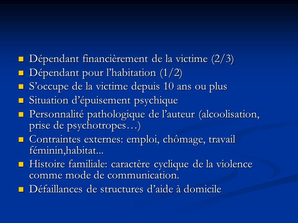 Dépendant financièrement de la victime (2/3)