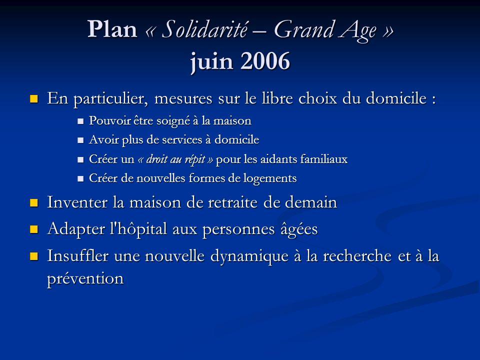 Plan « Solidarité – Grand Age » juin 2006