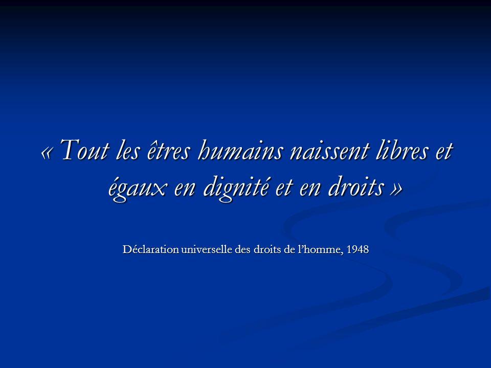 Déclaration universelle des droits de l'homme, 1948