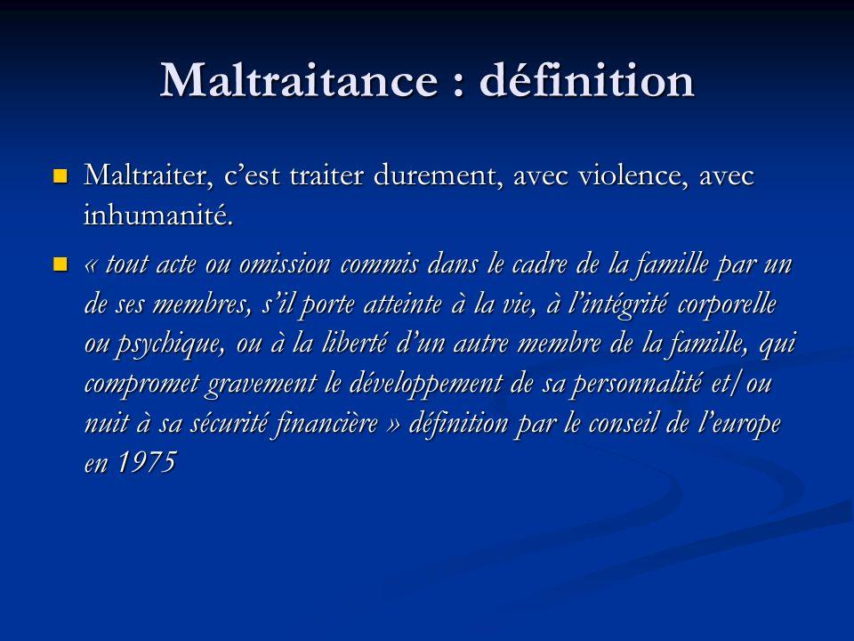 Maltraitance : définition
