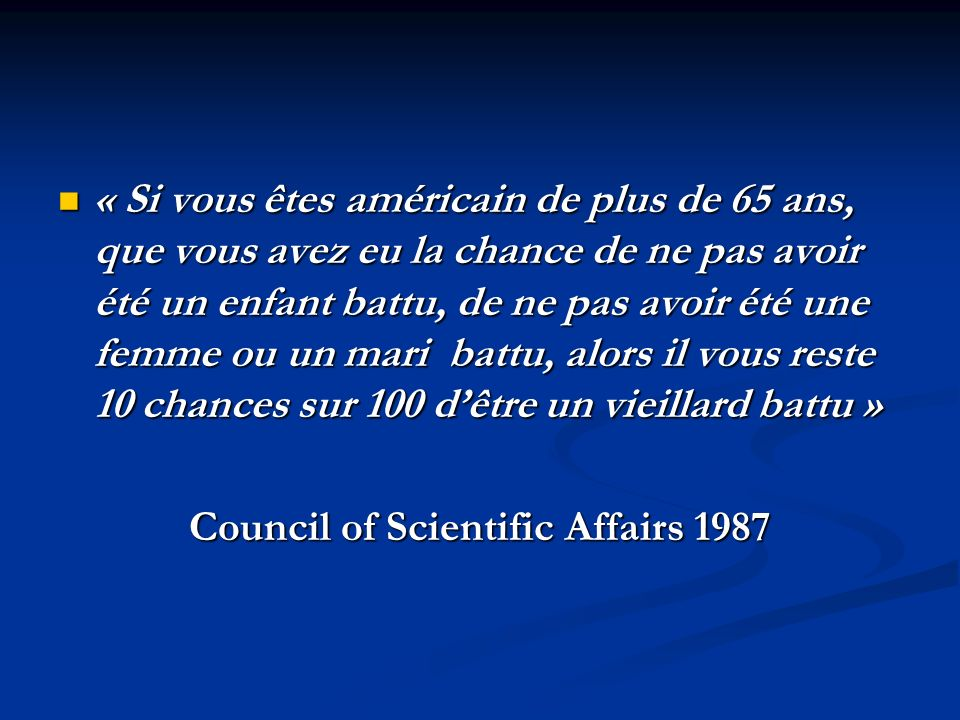 Council of Scientific Affairs 1987