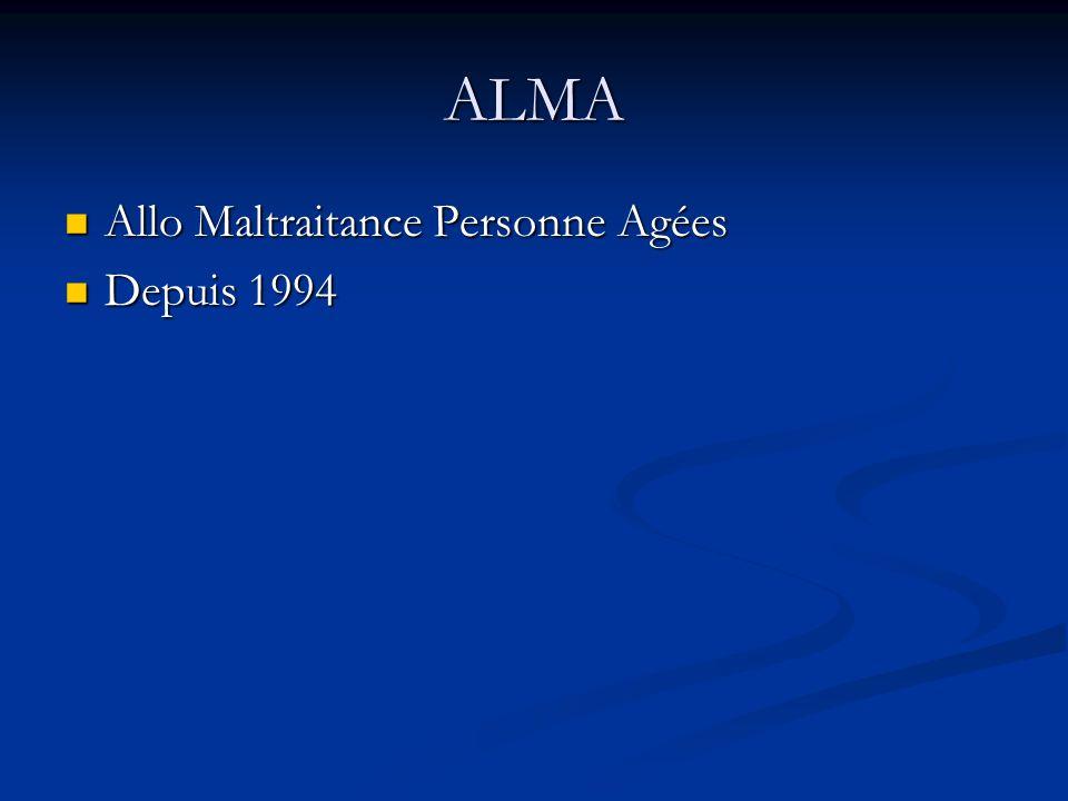 ALMA Allo Maltraitance Personne Agées Depuis 1994