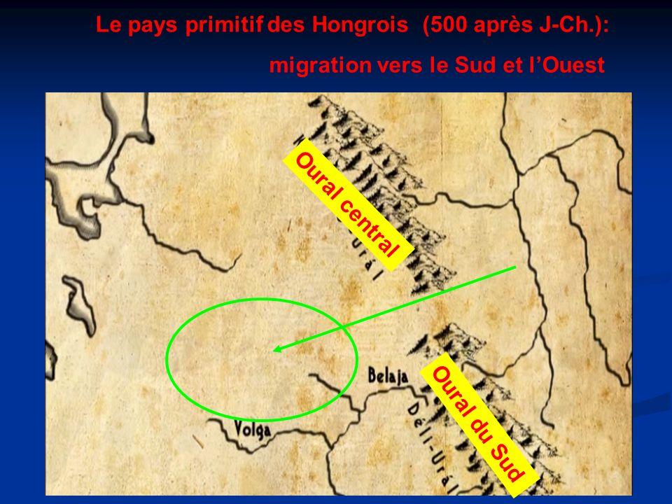 Le pays primitif des Hongrois (500 après J-Ch.):
