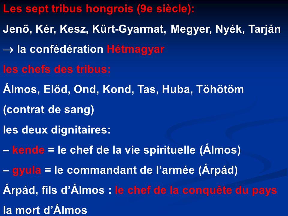 Les sept tribus hongrois (9e siècle):