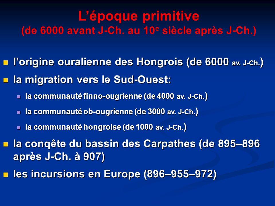 (de 6000 avant J-Ch. au 10e siècle après J-Ch.)
