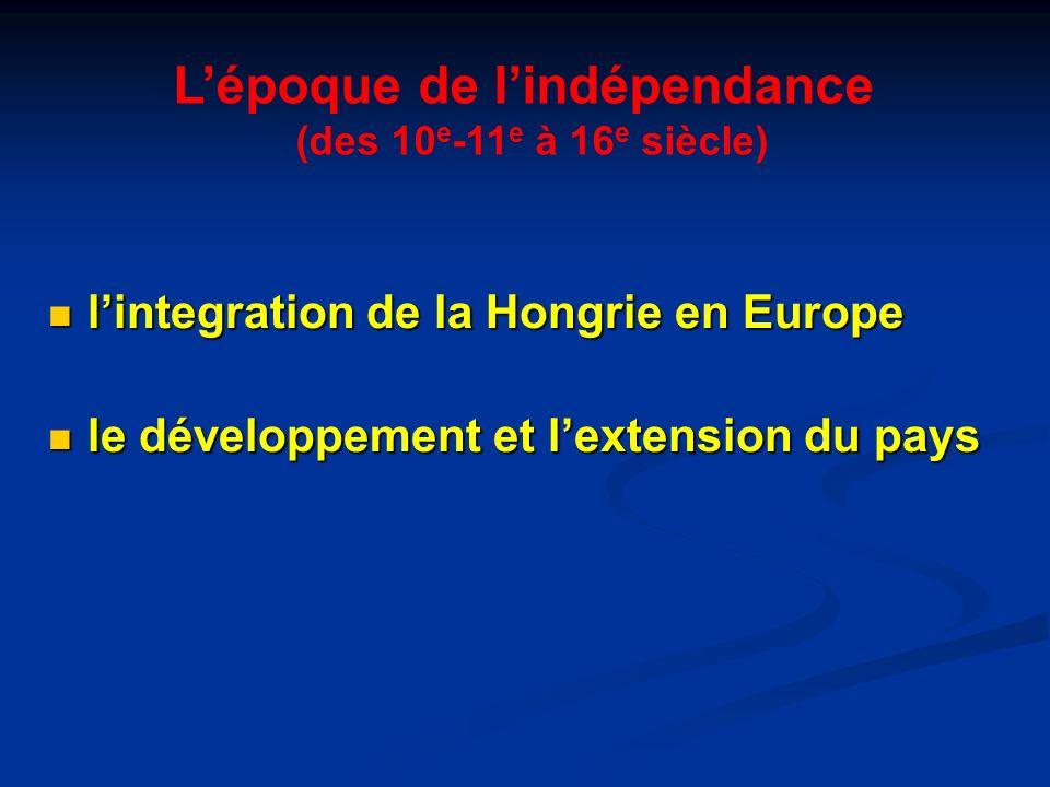 L'époque de l'indépendance