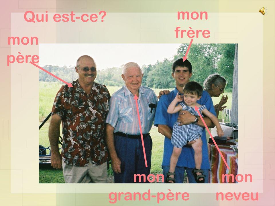 Qui est-ce mon frère mon père mon grand-père mon neveu