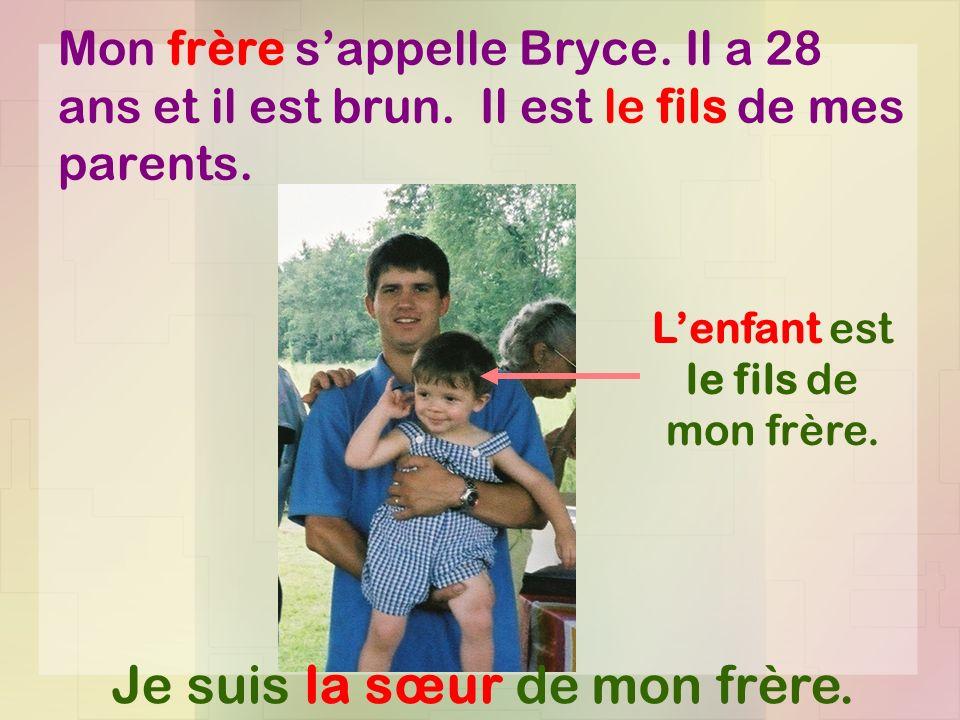 L'enfant est le fils de mon frère.