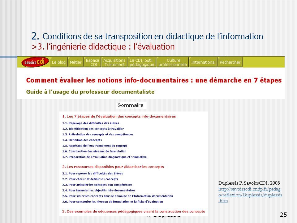 2. Conditions de sa transposition en didactique de l'information >3