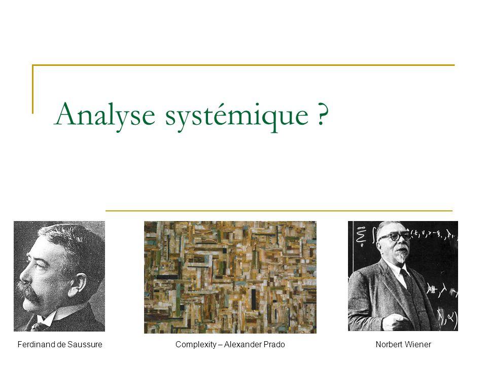 Analyse systémique Ferdinand de Saussure