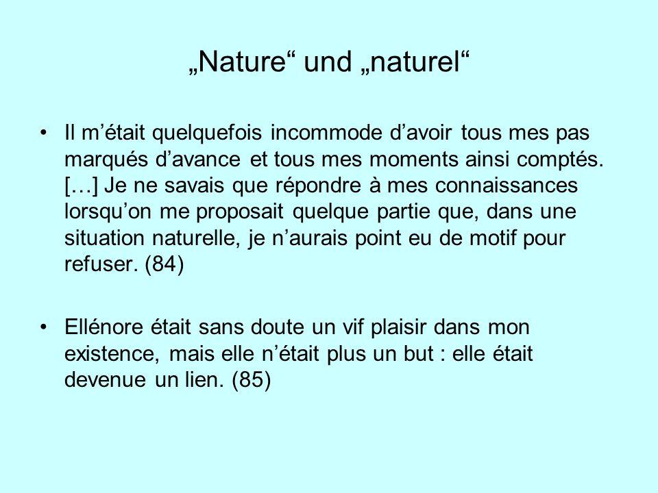 """""""Nature und """"naturel"""