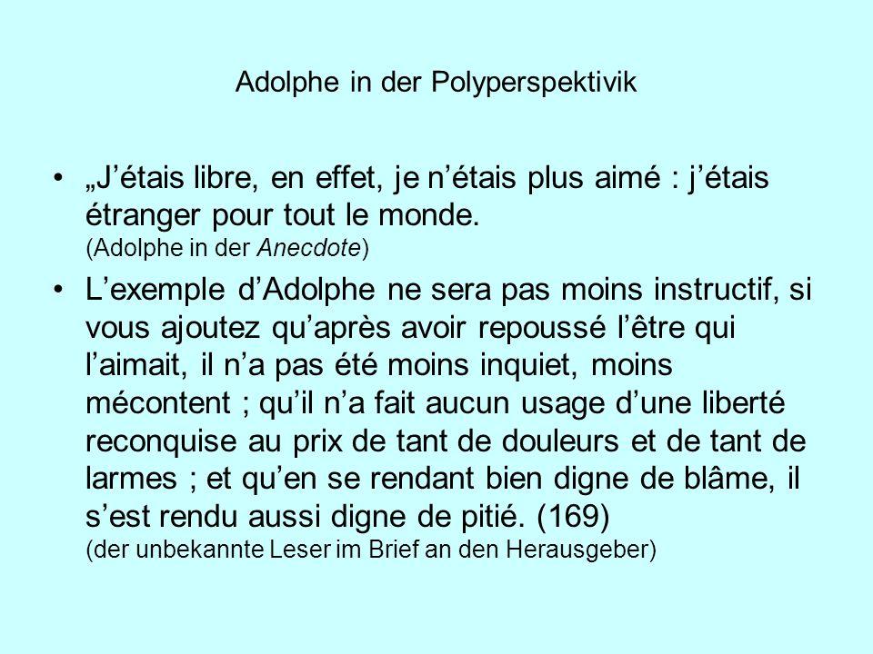 Adolphe in der Polyperspektivik