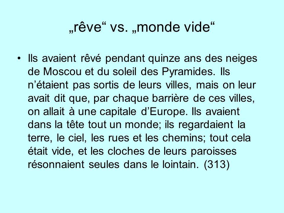 """""""rêve vs. """"monde vide"""