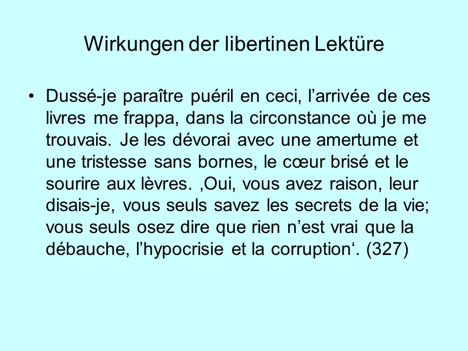 Wirkungen der libertinen Lektüre