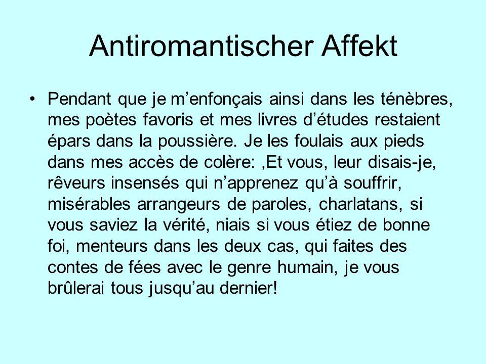 Antiromantischer Affekt
