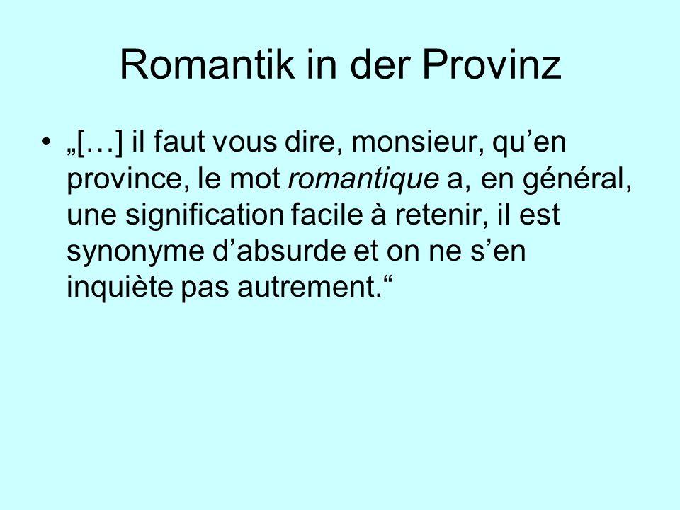 Romantik in der Provinz