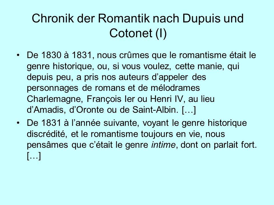 Chronik der Romantik nach Dupuis und Cotonet (I)