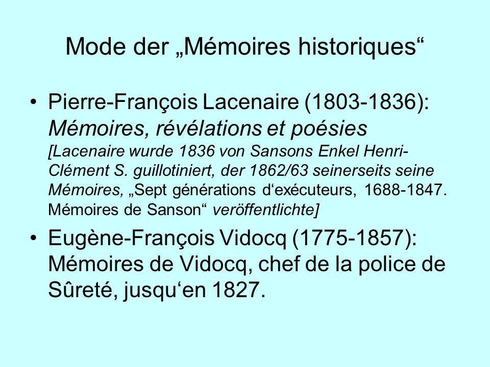 """Mode der """"Mémoires historiques"""