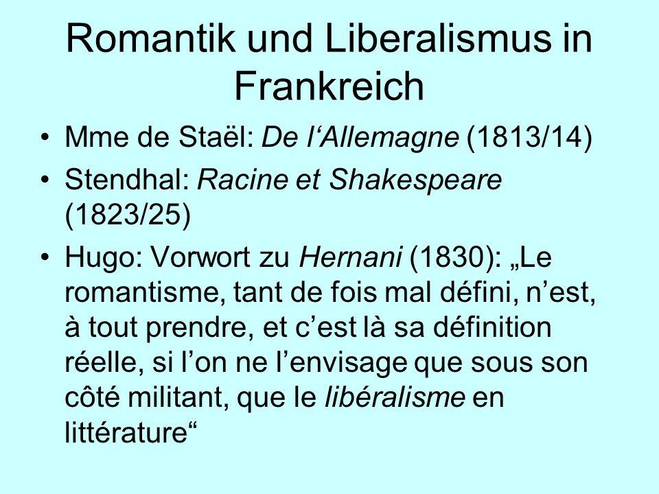 Romantik und Liberalismus in Frankreich