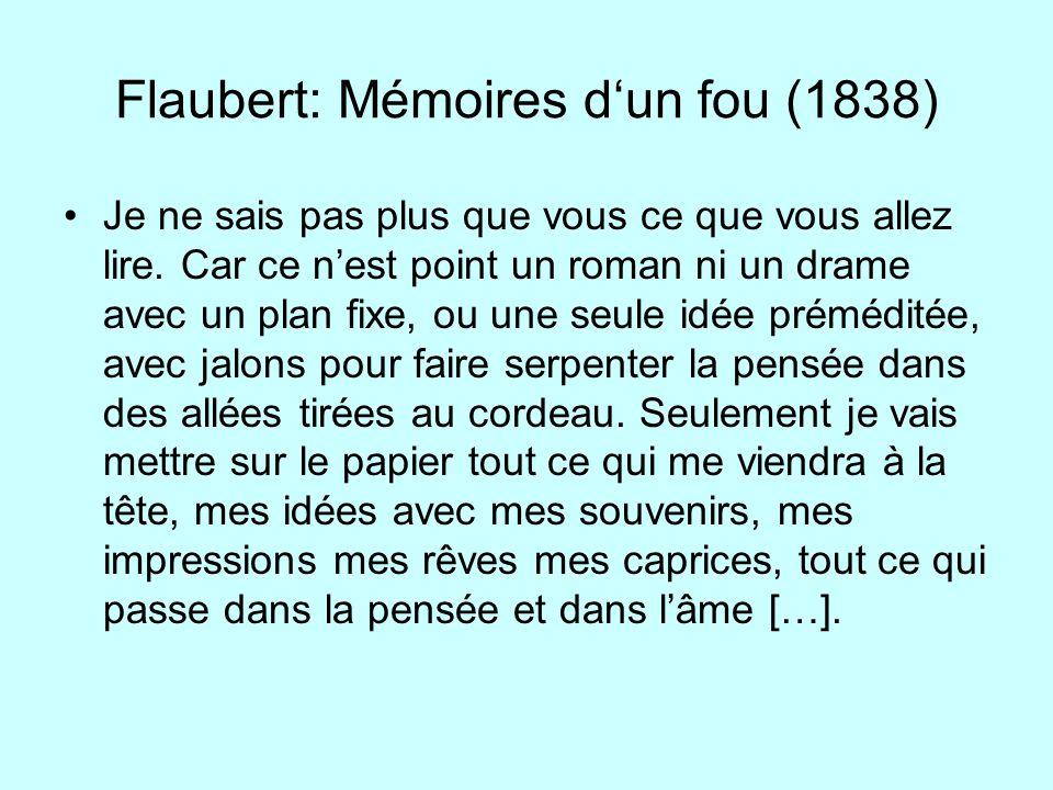 Flaubert: Mémoires d'un fou (1838)
