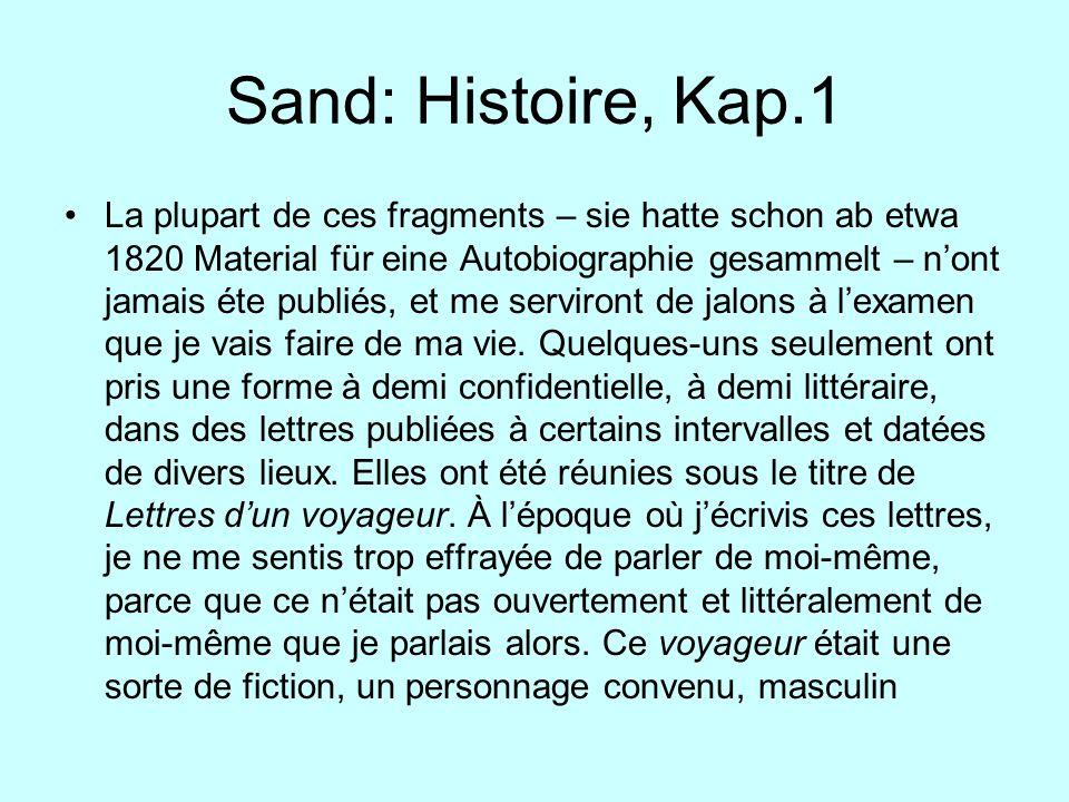Sand: Histoire, Kap.1
