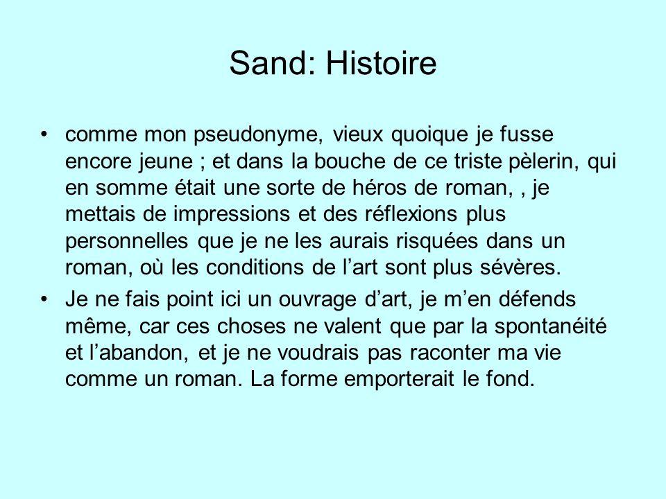 Sand: Histoire