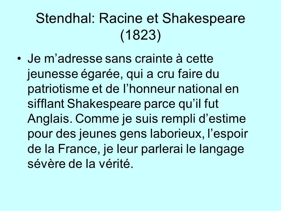 Stendhal: Racine et Shakespeare (1823)