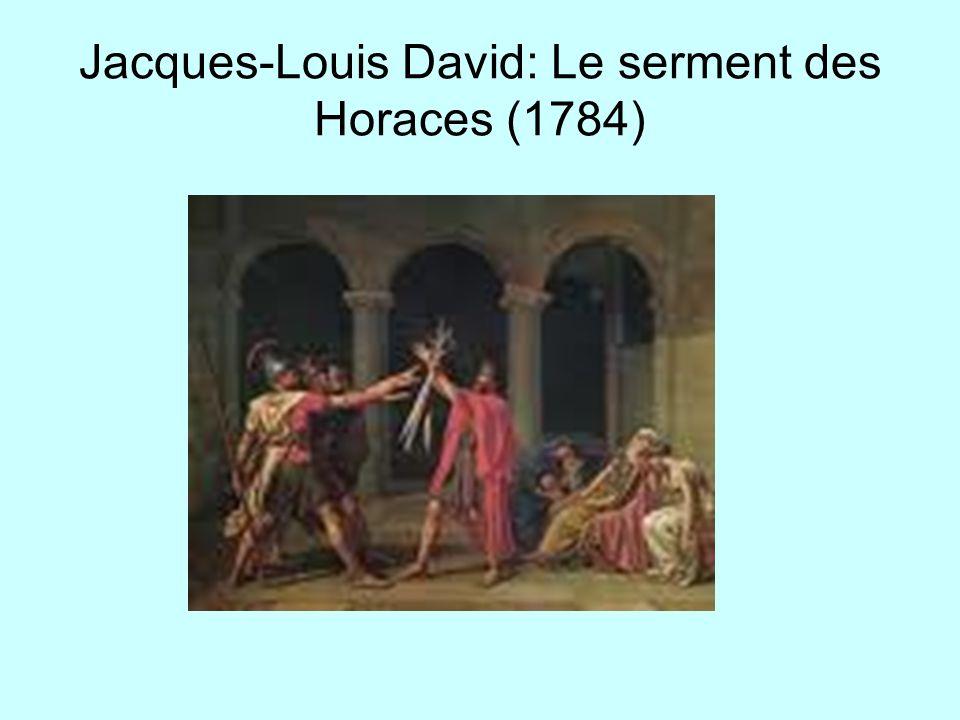 Jacques-Louis David: Le serment des Horaces (1784)