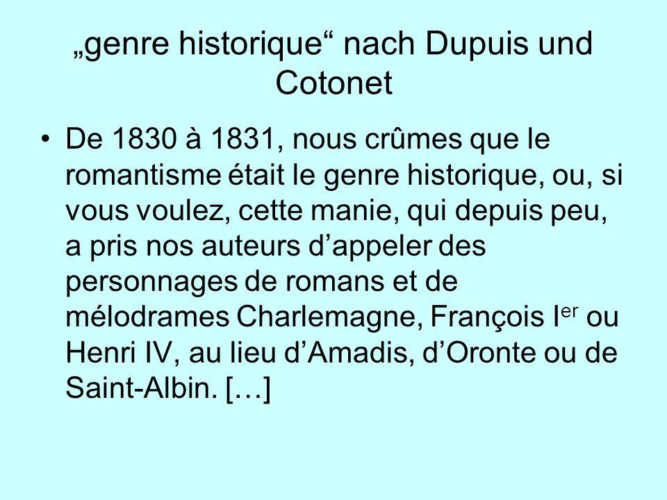 """""""genre historique nach Dupuis und Cotonet"""