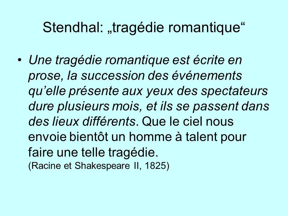 """Stendhal: """"tragédie romantique"""