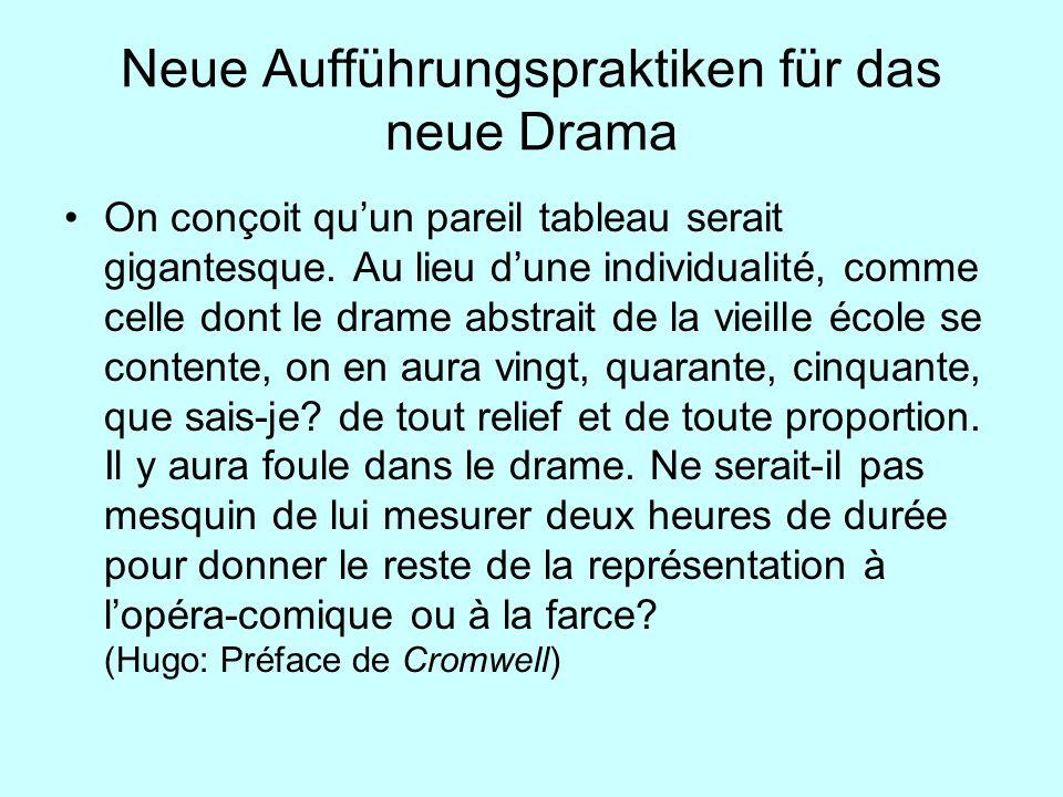 Neue Aufführungspraktiken für das neue Drama