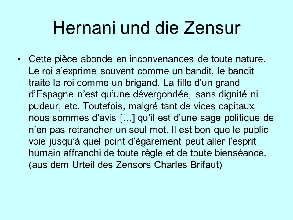 Hernani und die Zensur