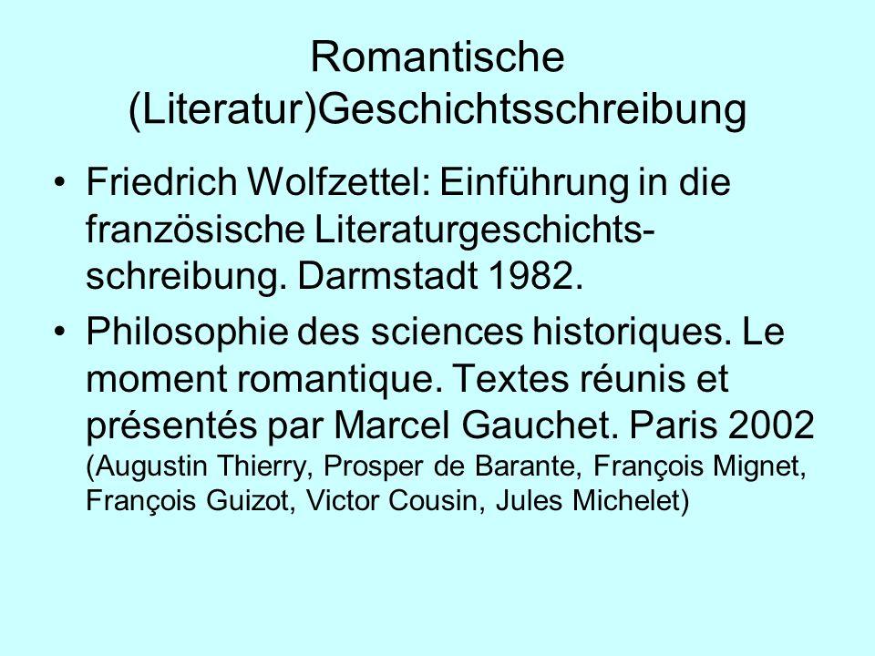 Romantische (Literatur)Geschichtsschreibung