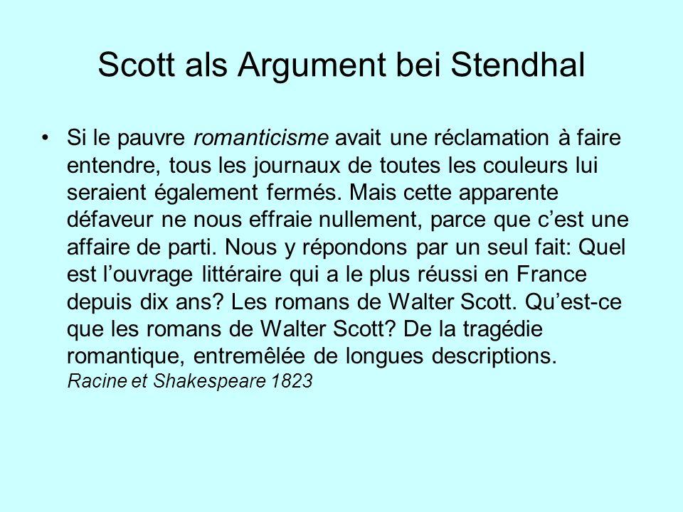 Scott als Argument bei Stendhal