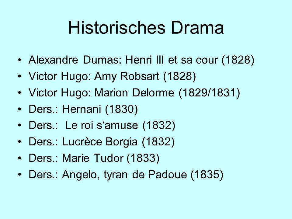 Historisches Drama Alexandre Dumas: Henri III et sa cour (1828)