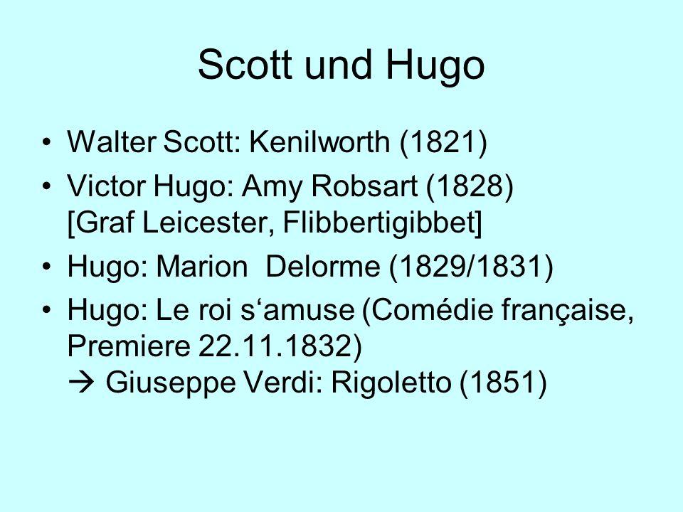 Scott und Hugo Walter Scott: Kenilworth (1821)