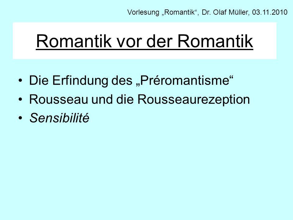 Romantik vor der Romantik