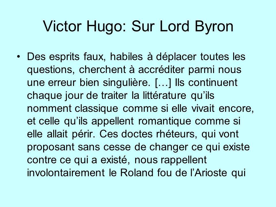 Victor Hugo: Sur Lord Byron
