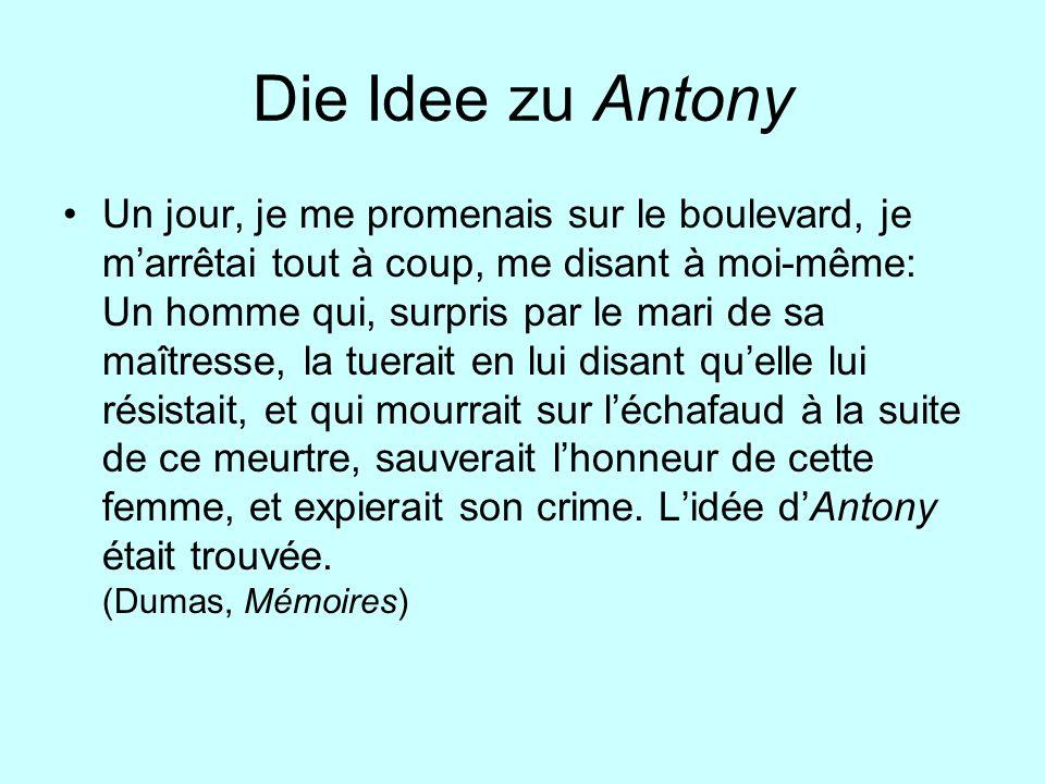 Die Idee zu Antony