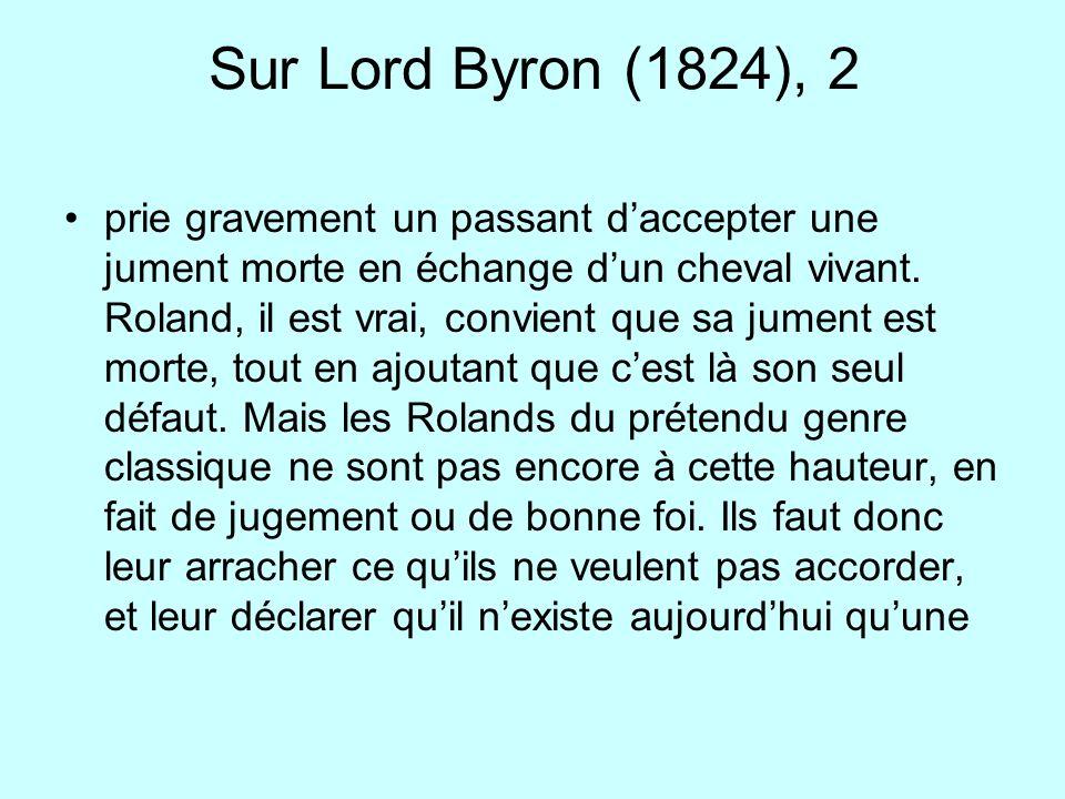 Sur Lord Byron (1824), 2