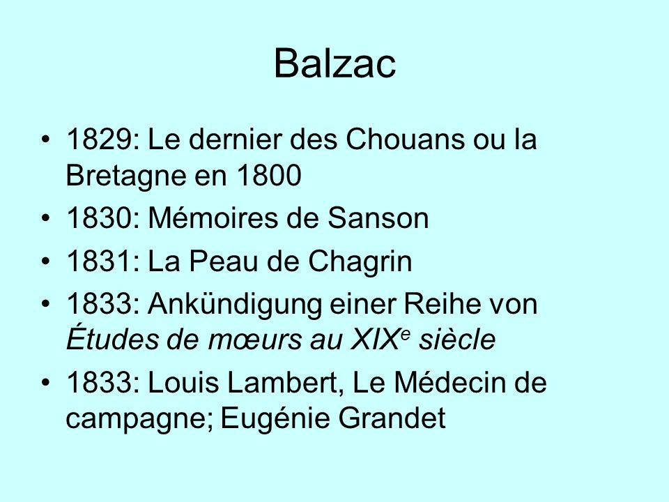 Balzac 1829: Le dernier des Chouans ou la Bretagne en 1800